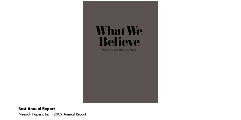 2010 Award - Best Annual Report