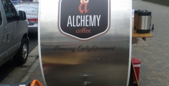 Alchemy Coffee Stand Wide Format