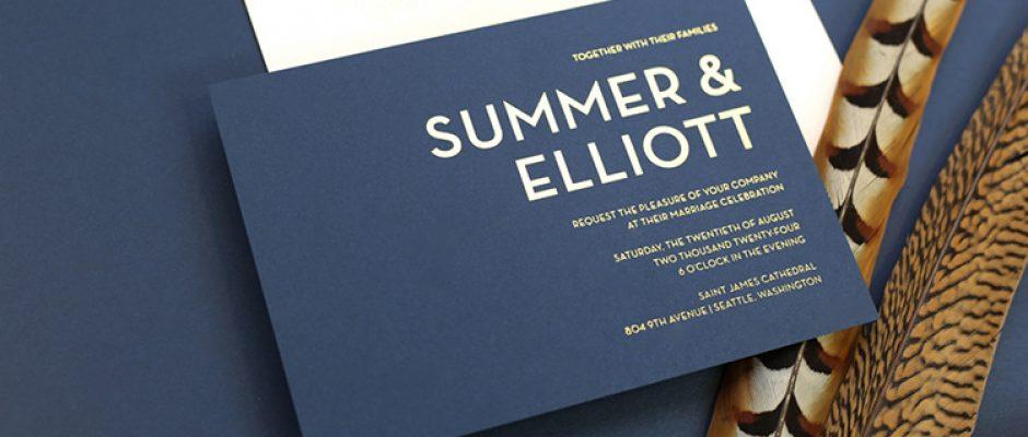 Page Stationery - Summer & Elliott