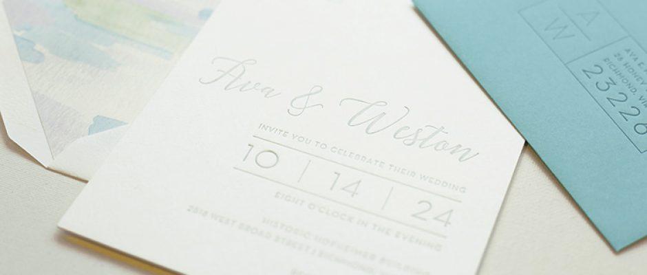 Letterpress printing worth higgins associates richmond va page stationery ava weston colourmoves