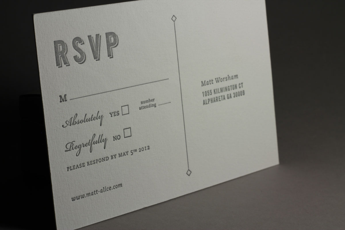 Wedding invitation rsvp wording m matik for for Rsvp stand for on an invitation