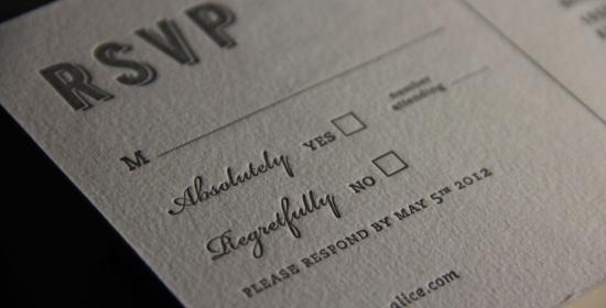 Page Stationery - RSVP Letterpress Card