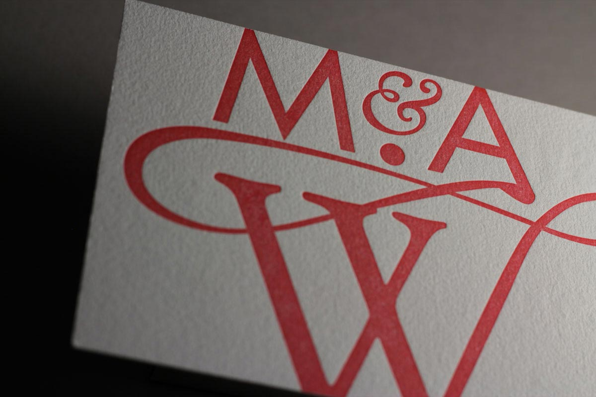 Page Stationery - RSVP Letterpress Card