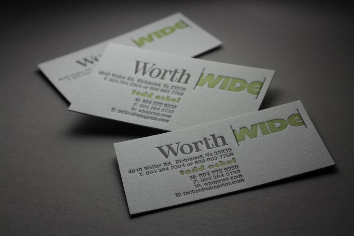Wha9 worth higgins worth higgins and associates letterpress business cards colourmoves