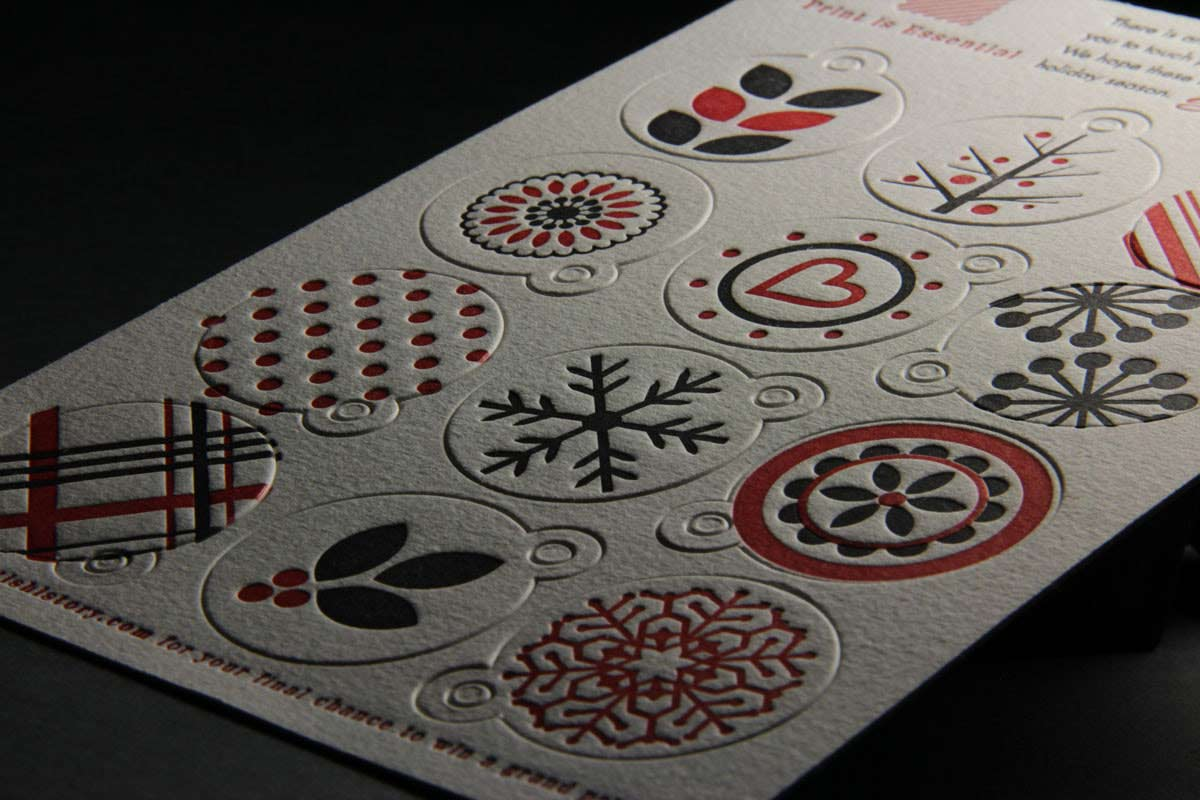 Page Stationery - Letterpress Holiday Gift Tags