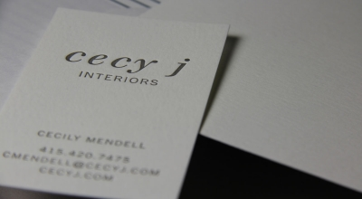 Page Stationery - Cecy J Interiors Letterpress Business Card