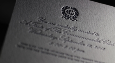 Page Stationery - The Commonwealth Club Letterpress Invitations