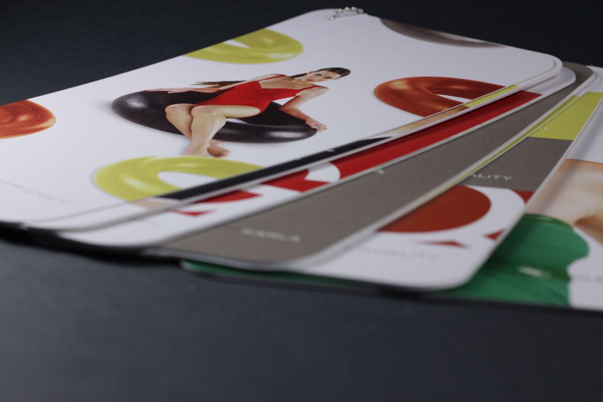 Karla Calletto Catalog - Round Cornered Cards Bound by Silver Keychain