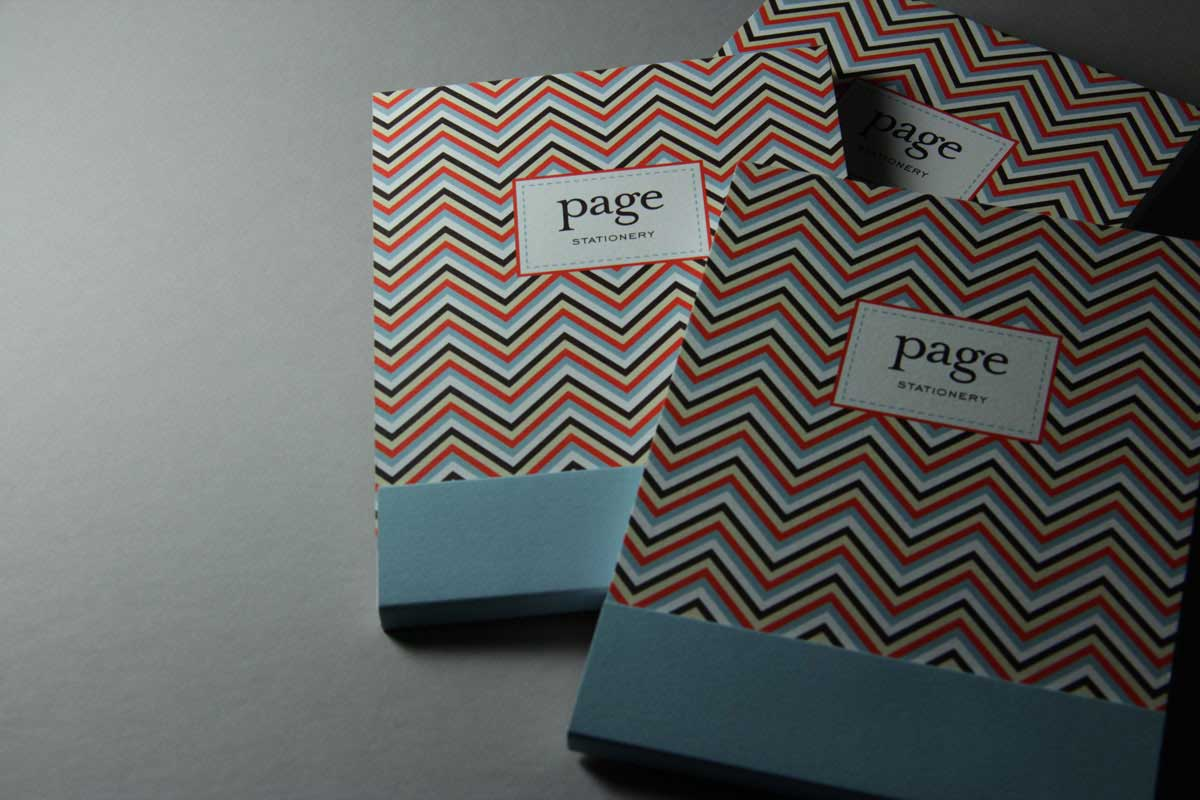 Page Stationery - Notepad with Chevron design