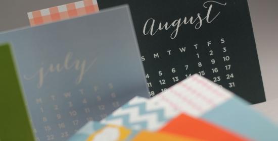 Page Stationery - Desk Calendar