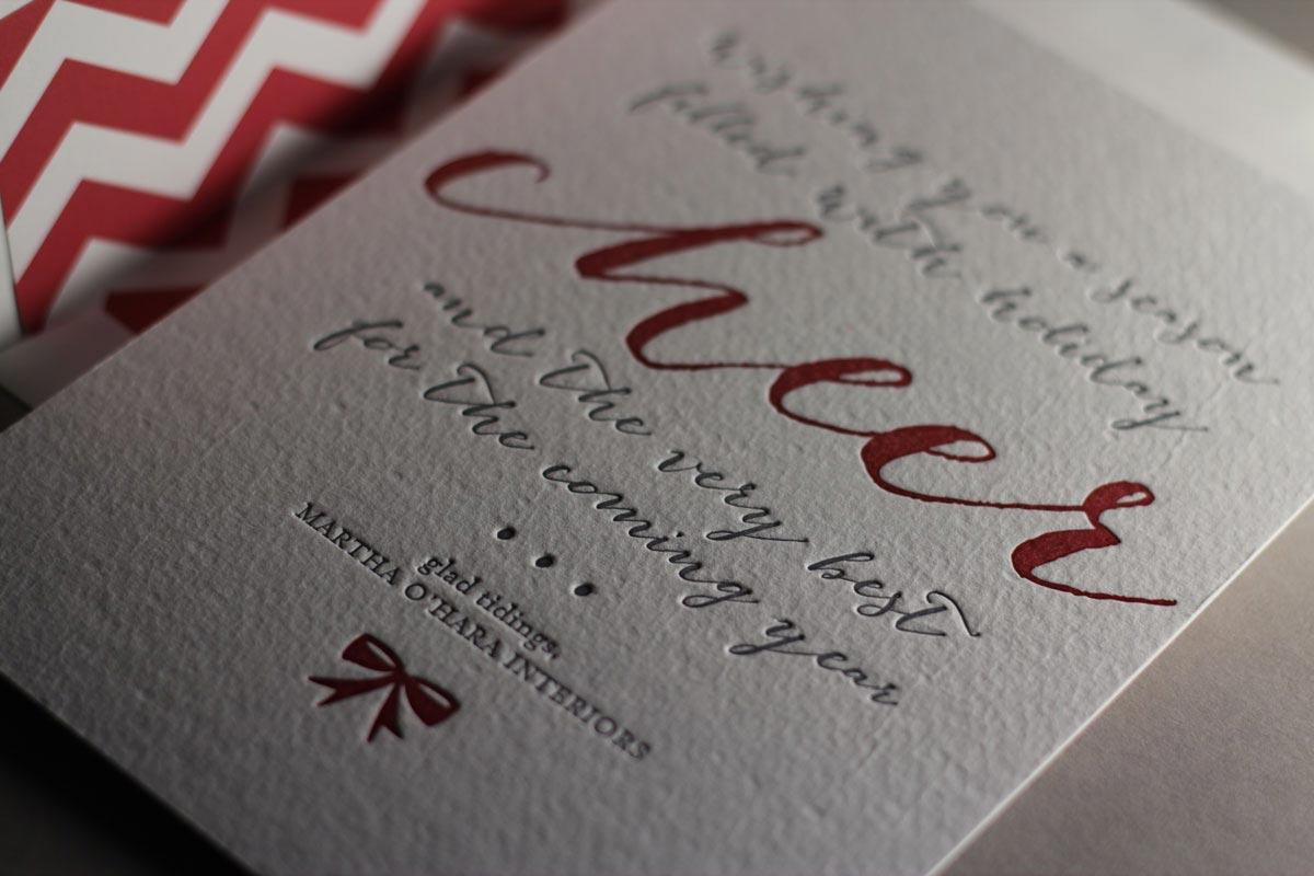 Page Stationery - Letterpress Holiday Card