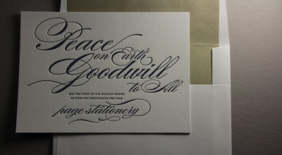 Page Stationery - Letterpress Holiday Card