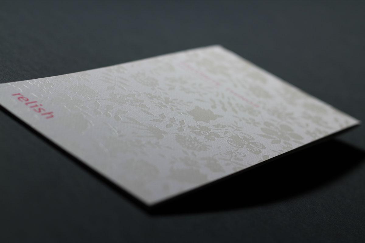 Relish Catalog - Foil Stamping