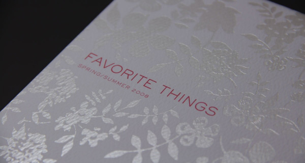 Relish Catalog - Foil Stamping