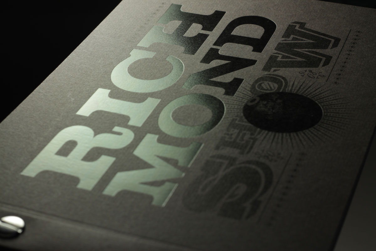 Richmond Show Book with black foil stamp