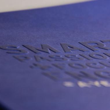 Smart + - Beveled Embossed Lettering