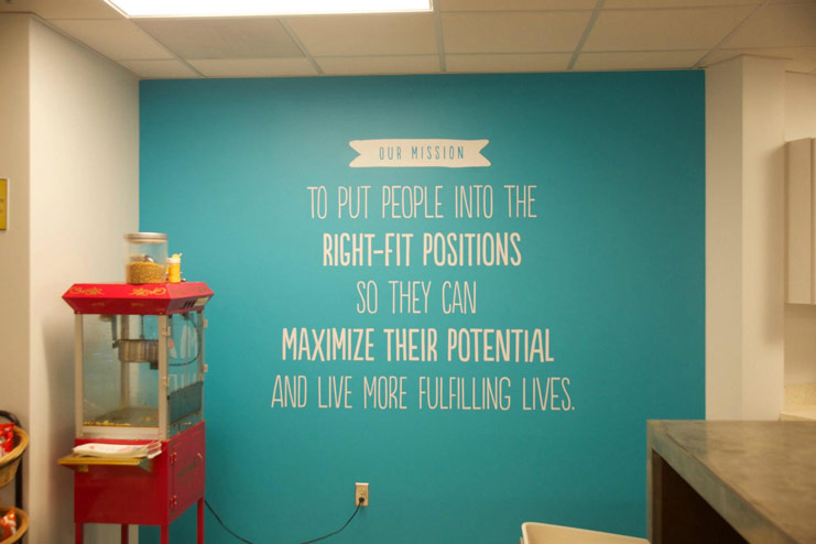 Snag A Job - Wall quote - Worth Wide
