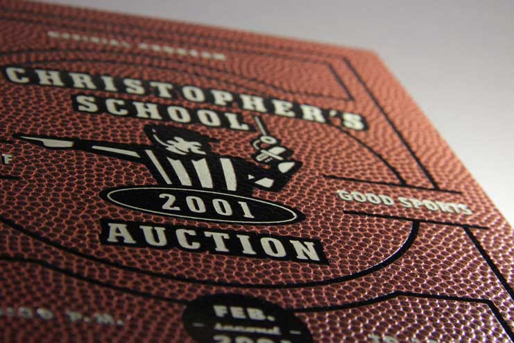 St. Christopher's Basketball book - Gloss black pigmented foil made to look like a basketball